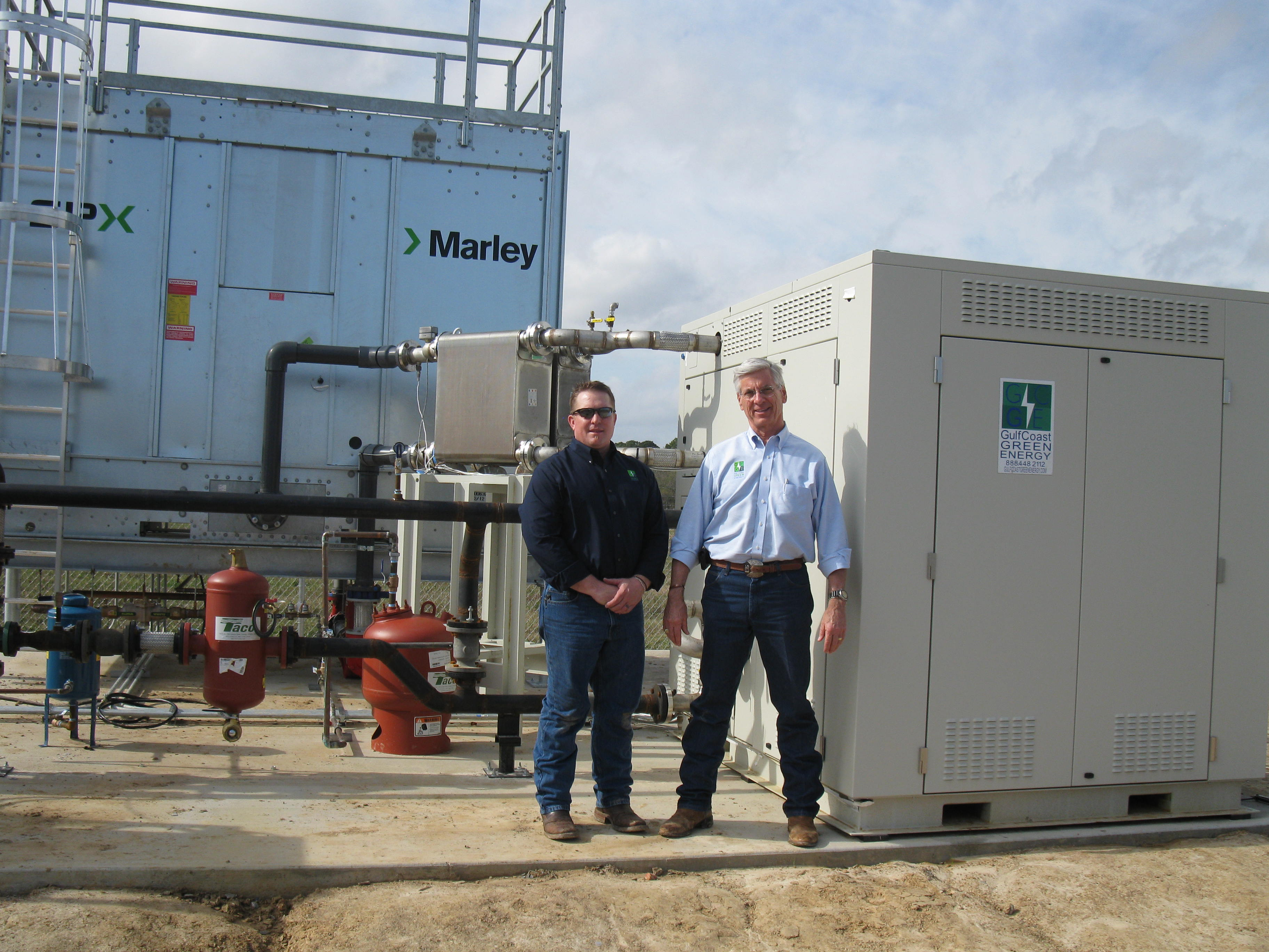 Green Machine waste heat to power technology installation at University of Louisiana