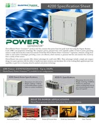 Power+ 4200 Spec Sheet